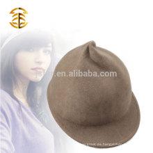 2017 Lanas baratas vendedoras calientes Fedora de 100% que completa un ciclo el casquillo y el sombrero