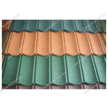 tuile de toit enduite de pierre colorée