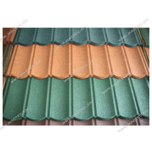 telha de telhado revestida de pedra colorida