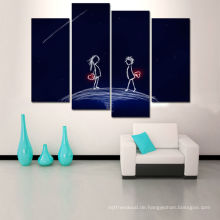 Nachthimmel 4 Stück Leinwand Kunst mit Rahmen