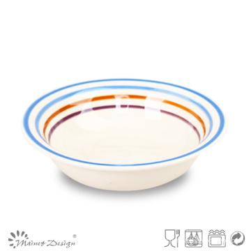 Assiette à soupe en céramique multicolore
