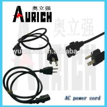 Enchufe PVC estándar UL Inserte el cable de alimentación