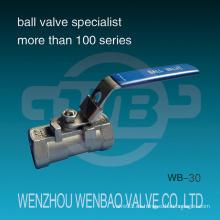1-PC Válvula de bola de puerto reducida 1000 psi con manija de bloqueo