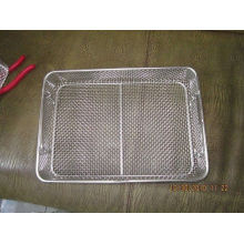Anti - Corrosion Mesh Wire Basket Sus316l Metal And Chrome Plated