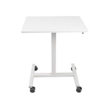 Регулируемый пневматический стоячий стол с одной колонкой