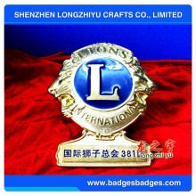 Metal Gold Lions Club Car Emblem Bronze Label Commemorative Emblem