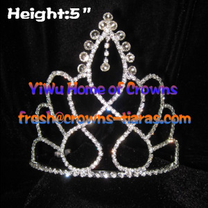 5in Clear Diamond Pageant Crowns