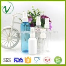 Botella líquida plástica vacía redonda redonda cosmética del tamaño para el perfume