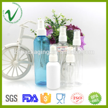 Customized size cosmetic round empty PET plastic liquid bottle for perfume