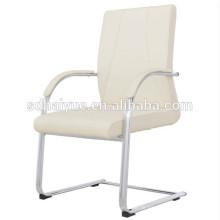2016 Moderner eleganter weißer speisender Stuhl mit PVC, chromiertes Bein für Esszimmermöbel-Restaurantmöbel