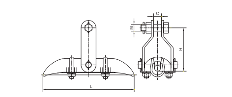 Trunnion Type Suspension Clamp