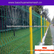 Curved metal triangular highway fencing