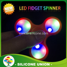 Glow in the dark abs LED fidget spinner
