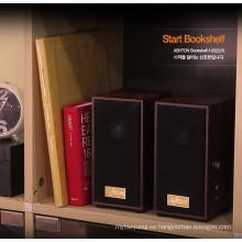 2.0 altavoces estéreo de madera, altavoz multimedia