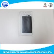 Klare PVC-Plastiktaschen mit Hängeloch
