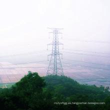 Torre de acero de transmisión de energía de doble circuito 220 kv