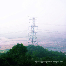 220 Kv Double Circuit Power Transmission Steel Tower