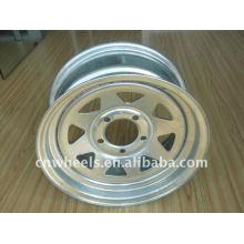 Galvanized silver trailer parts wheel rims 14 inch