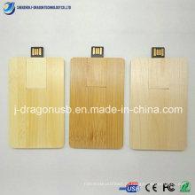 Cartão de visita de madeira USB Flash Drive