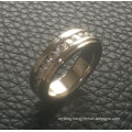 Shineme Jewelry Full Circle Stones Inlaid Stainless Steel Ring (CZR2546)