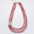 Fashion Multi-layer Red Pearl Necklace