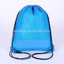 Heiße verkaufende wiederverwendbare nicht gesponnene Kordelzug-Rucksack-Großhandelsbeutel-EinkaufsTaschen-Taschen-Förderung