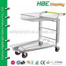 two tier metal greenhouse cargo cart