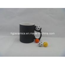 11oz Fußball-Handgriff-magischer Becher, Farben-Änderungs-Becher
