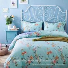 Lindo poliéster poliéster impresso tecido de microfibra para folha de cama com boa qualidade à venda
