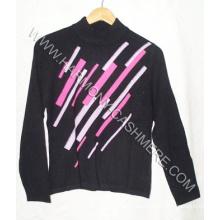 Damen Cashmere Pullover mit Intersia (HM-SW09018)