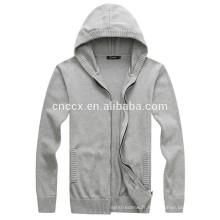 15PKH07 2016 tricot acrylique laine cardigan zip-up personnalisé hoodies