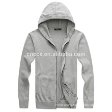15PKH07 2016 knitting acrylic wool cardigan zip-up custom hoodies