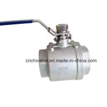 Válvula de bola flotante llena del hilo de rosca llena del hilo de rosca 2PC con la cerradura