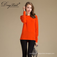 Wholesale China Supplier Women Round Neck Pullover Wool Cashmere Sweater For Custom