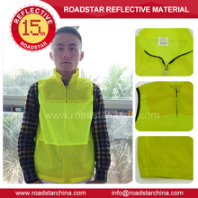 Fluorescent safety reflective clothing