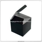 Folding Card Stock Paper Package Black Box (SJ001)