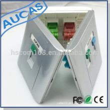 Taiwan fabricante RJ45 cat6 keystone jack placa frontal como amplificador rj45 faceplate