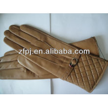 Winter professional yellow leather gloves in China
