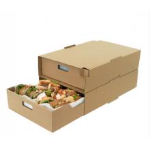 Лоток для розничной торговли Готовый лоток для упаковки Бумажная витрина Складная картонная коробка из гофрированного картона
