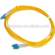 Cordon de raccordement à fibre optique lc à cordon de télécommunication, cordon de raccordement simplex duplex lc avec prix par mètre