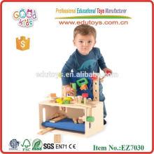 Brinquedos Ferramentas e Brains - Caixa de ferramentas de madeira para crianças