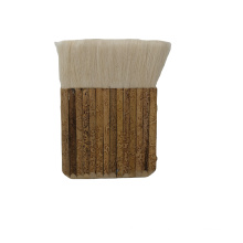 White Color Goat Hair Paint Brush with Bamboo Handle 12# for Thailand  Market Bamboo Brush Cleaning