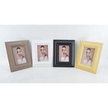 New MDF Paper Wrap Photo Frame in Wooden Grain Color