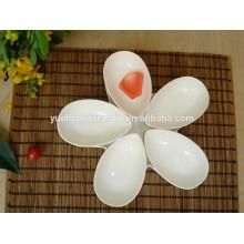 New style porcelain porcelain flower shaped wooden bowl dish set