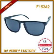 F15342 Marca diseñador espejo lente gafas de sol con logotipo personalizado