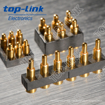 Double Row SMT 6-Pin Spring Loaded Pogo Pin Contact Connectors