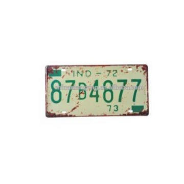 Antique and Retro Reflective Car Plate & Decorative Car Plate