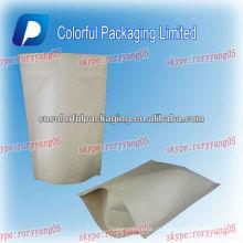 Saco de papel Kraft forrado sacos de plástico da folha para o feijão de café / 250gr resealable food grade saco plástico