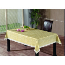 PVC Embossing Tablecloth with Flannel Backing (TJG0009)