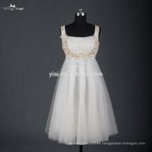 RSE668 oro rebordear vestido de cóctel de moda de Corea para las mujeres embarazadas